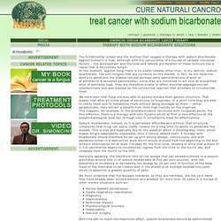 Cancer therapy using sodium bicarbonate