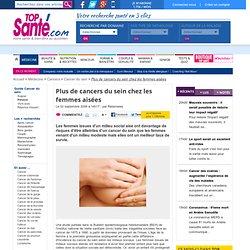 Plus de cancers du sein chez les femmes aisées