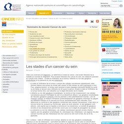 Les stades d'un cancer du sein - Les stades du cancer - Cancer du sein