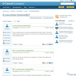 All Is cancertutor trustworthy? messages