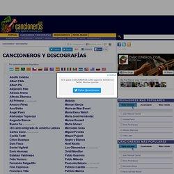CANCIONEROS Y DISCOGRAFÍAS