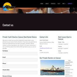 Cancun Private Yacht Charters