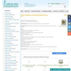CERA CANDELILLA BLANQUEDADA [500 g] - Vaselinas, ceras y parafinas - México