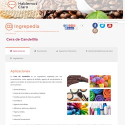 Cera de Candelilla - Ingrepedia