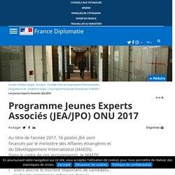 Appel à candiatures : Programme Jeunes Experts Associés (JEA/JPO) ONU 2017