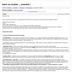 Guérir du Candida ... ensemble ! - Journal de Laetitia