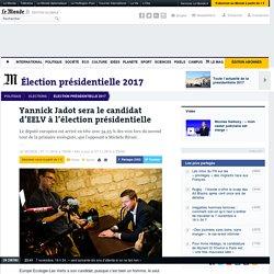 Yannick Jadot sera le candidat d'EELV à l'élection présidentielle