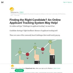 Online Applicant Tracking System May Help!