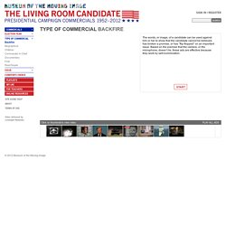 The Living Room Candidate - Type of Commercial - Backfire
