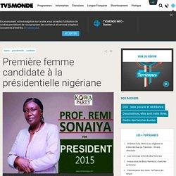 Première femme candidate à la présidentielle nigériane