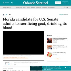 Florida Senate candidate admits to sacrificing goat, drinking its blood