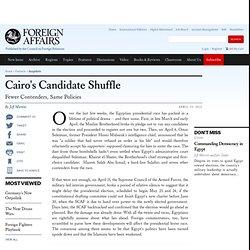 Cairo's Candidate Shuffle