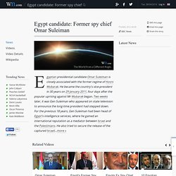 Egypt candidate: Former spy chief Omar Suleiman