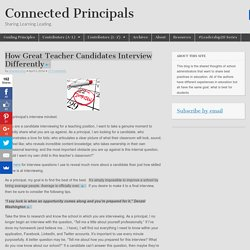 How Great Teacher Candidates Interview Differently