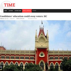 Candidates' education could sway voters: HC