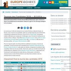 Tournois des Candidates 2019 — R13-R14 — - Actualités / International