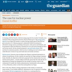 Daniel Koffler: Nuclear power should be a part of the candidates' energy policies