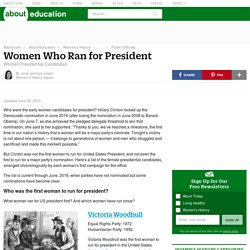 Women Candidates for President of the United States