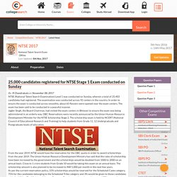 25,000 candidates registered for NTSE Stage 1 Exam conducted on Sunday