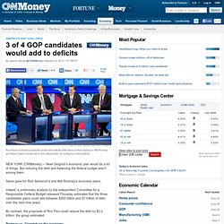 3 of 4 GOP candidates would add to deficits - Feb. 23
