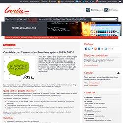 Candidatez au Carrefour des Possibles spécial fOSSa 2013 !