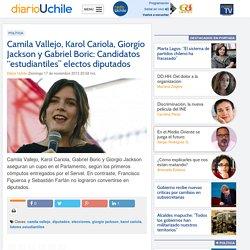 """Camila Vallejo, Karol Cariola, Giorgio Jackson y Gabriel Boric: Candidatos """"estudiantiles"""" electos diputados"""