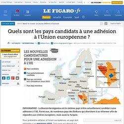 Quels sont les pays candidats à une adhésion à l'Union européenne ?