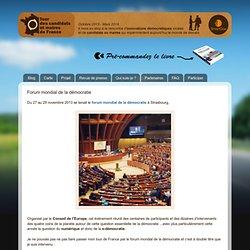 Tour des Candidats et Maires de France: Forum mondial de la démocratie