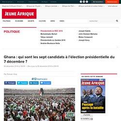 Ghana : qui sont les sept candidats à l'élection présidentielle du 7 décembre ?