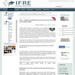 Ifeac : Appel à candidature pour les bourses d'aide à la mobilité (AMI)
