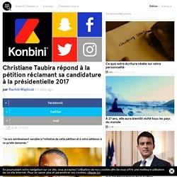 Christiane Taubira répondà la pétition réclamant sa candidature à la présidentielle 2017