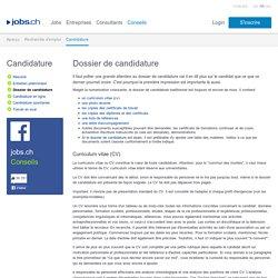 Candidature - Voici comment présenter de manière professionnelle votre CV et votre lettre de motivation.