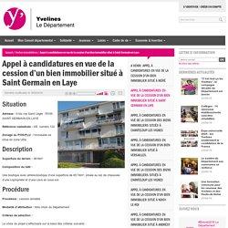 Appel à candidatures en vue de la cession d'un bien immobilier situé à Saint Germain en Laye