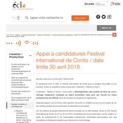 Appel à candidatures Festival international de Contis / date limite 30 avril 2018 / Appels à projets et candidatures / Création / Production / Cinéma et audiovisuel