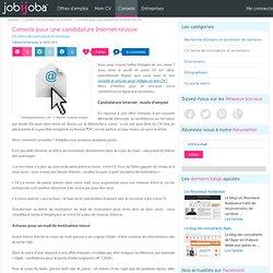 Réussir ses candidatures en ligne : le mail de motivation