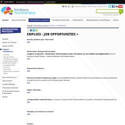 Emplois - Candidatures - Neurosciences - FBN