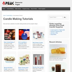 Candle Making Tutorials - Candle Making Techniques