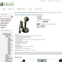 1909 Chicago Antique Candlestick Telephone European Antique Brass Phones