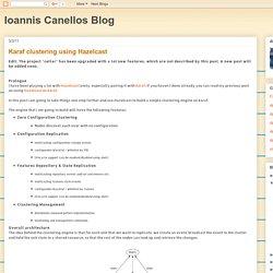 Ioannis Canellos Blog: Karaf clustering using Hazelcast