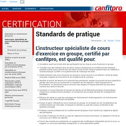 Standards de pratique