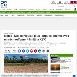 Météo: Des canicules plus longues, même avec un réchauffement limité à +2°C
