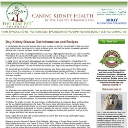 Canine Kidney Health