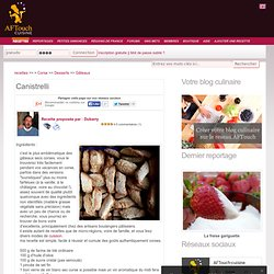 Canistrelli, recette Canistrelli