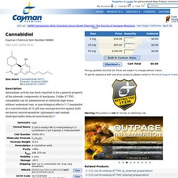 Cannabidiol (CAS 13956-29-1) || Cayman Chemical