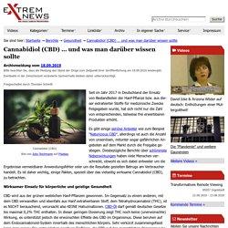 Cannabidiol (CBD) … und was man darüber wissen sollte — Extremnews — Die etwas anderen Nachrichten