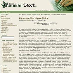 Cannabinoïdes et psychiatrie