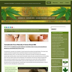 Cannabinoids found naturally in human breast milk
