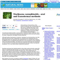 Marijuana cannabinoids - oral and transdermal methods