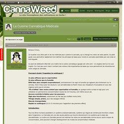 La Cuisine Cannabique Médicale - Consommation
