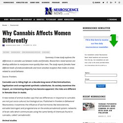 Why Cannabis Affects Women Differently